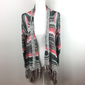 Altar'd State Open Knit Multicolored Cardigan
